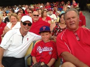 Scott, Bull and young fan in LA seats 2013